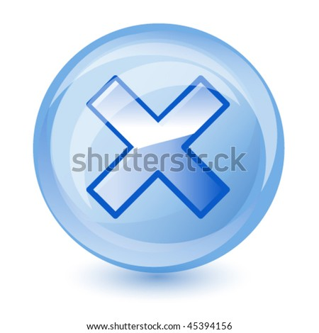 reject icon, vector - stock vector