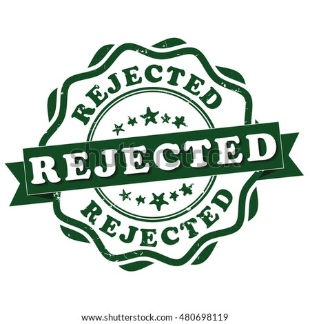 Rejected - green grunge stamp. Print colors used