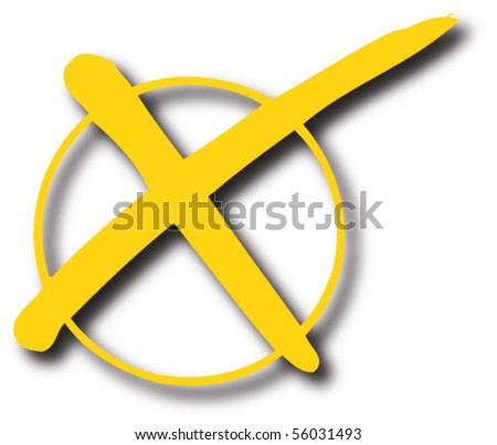 Rejected sign yellow - stock vector