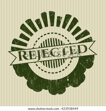 Rejected with rubber seal texture - stock vector