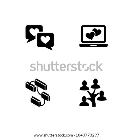 relationship friendship icon set set icon stock vector royalty free
