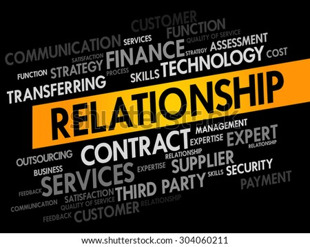 Relationship words cloud, business concept - stock vector