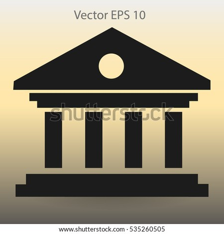 reliable bank vector illustration