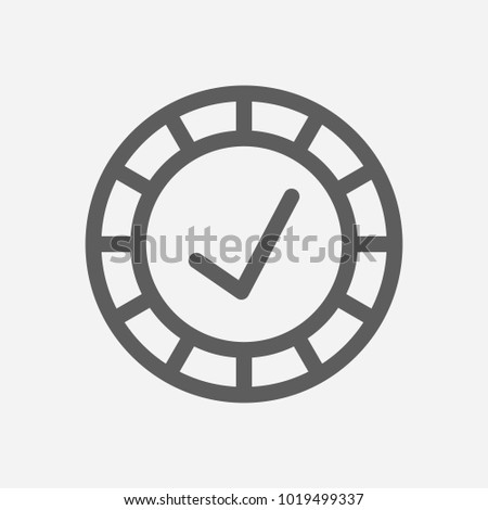 Reliable Value Icon Line Symbol Isolated Stock Vector 1019499337
