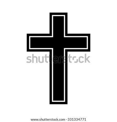 Religion cross icon . Vector illustration - stock vector
