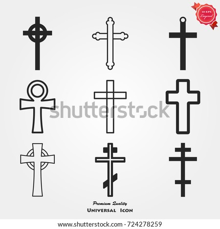 Religion cross icons