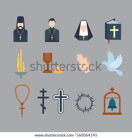 Religion icons vector illustration.