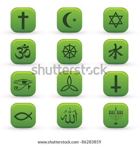 religion signs - stock vector