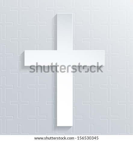 Religious 3d cross background. Vector eps10. - stock vector