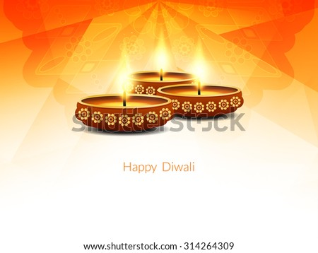 Religious happy diwali vector background design. - stock vector
