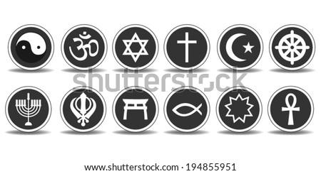 Religious Icons - stock vector