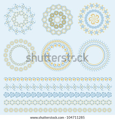 Religious Pattern Set. Jpeg Version Also Available In Gallery. - stock vector