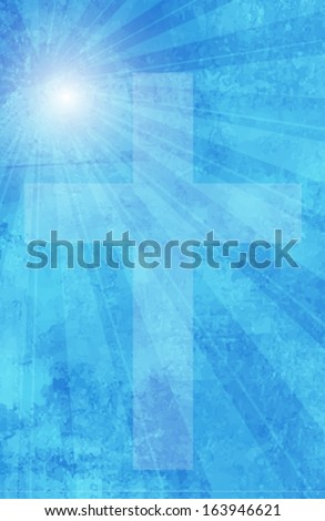 Religious sky background. Vector eps10.  - stock vector