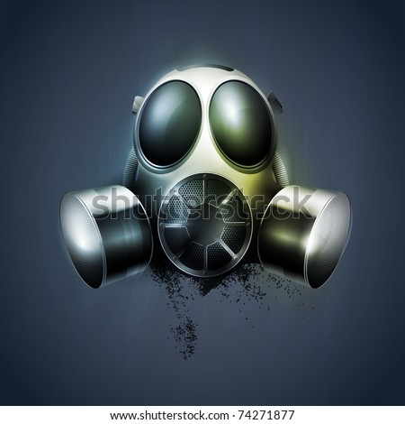 remedy, Gas mask, respirator. transparency, EPS10. - stock vector