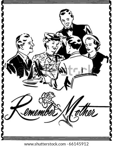 Remember Mother - Ad Header - Retro Clipart