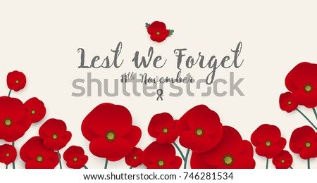 Remembrance day concept poppy flower banner stok vektr 746281534 remembrance day concept a poppy flower banner vector mightylinksfo