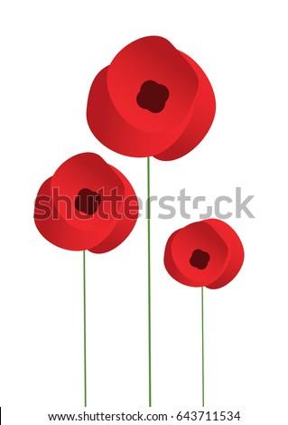 Remembrance poppy flower stock vector 643711534 shutterstock remembrance poppy flower mightylinksfo