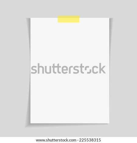 reminder on white background with clipping path - stock vector