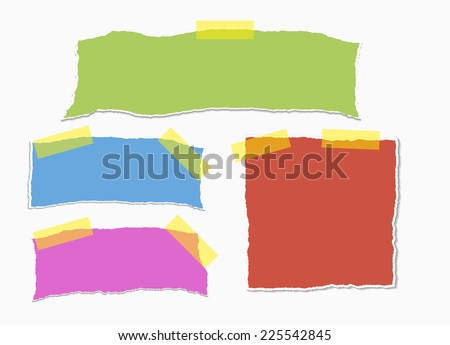 reminders on white background with clipping path - stock vector