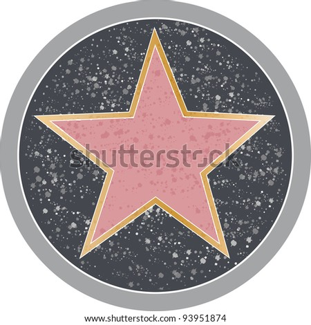 Reminiscent of a Hollywood sidewalk star. - stock vector