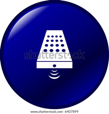 remote control button - stock vector