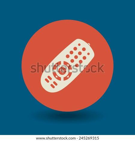 Remote control icon or sign, vector illustration - stock vector