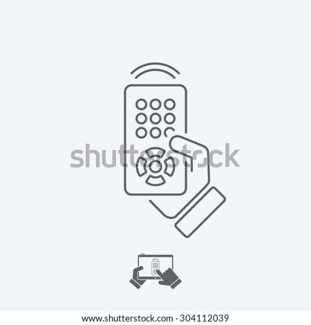 Remote control icon - Thin series - stock vector