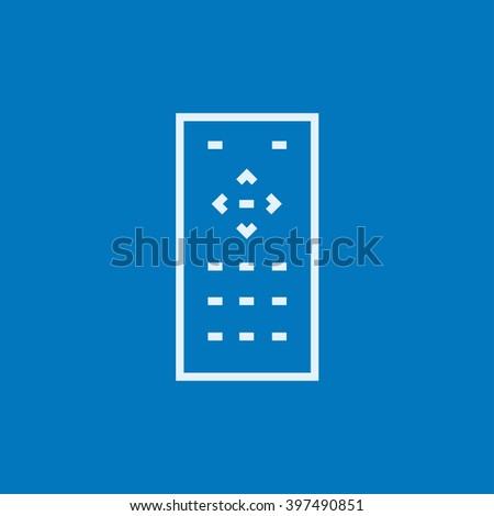 Remote control line icon. - stock vector