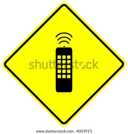 remote control sign - stock vector