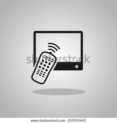 Remote control tv - stock vector