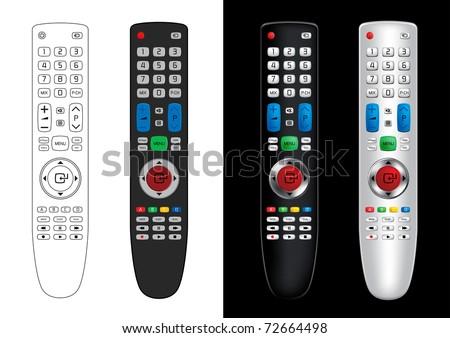 Remote Control - Vector Illustration - stock vector