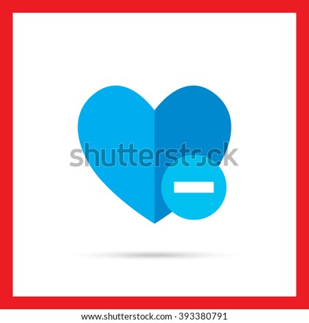 Remove from favorites icon - stock vector