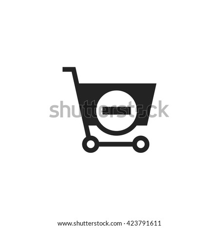 Remove from Shopping Cart Icon. Remove from Shopping Cart UI Icon. Remove from Shopping Cart Icon Art. Remove from Shopping Cart Web Icon. Remove from Shopping Cart Icon Pic. - stock vector