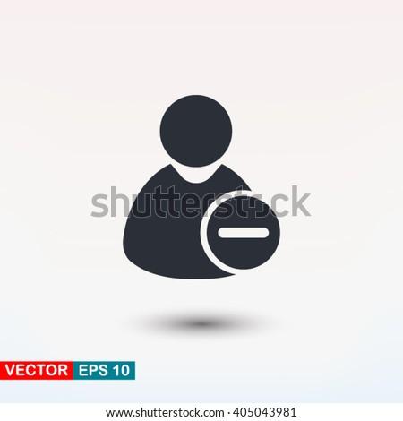 Remove user icon, Remove user icon eps, Remove user icon art, Remove user icon jpg, Remove user icon web, Remove user icon ai, Remove user icon app, Remove user icon flat, Remove user icon logo - stock vector