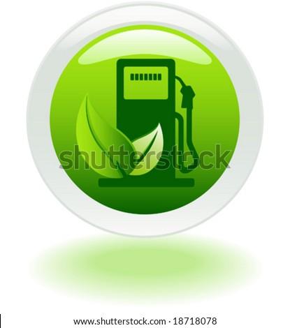 Renewable Biofuel Icon - stock vector