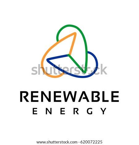 wind turbine logo stock images royaltyfree images