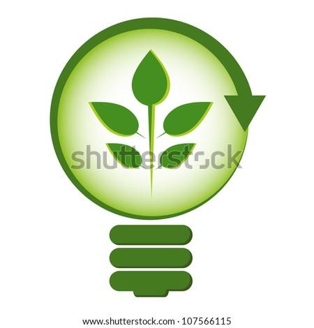 Renewable green energy concept. - stock vector