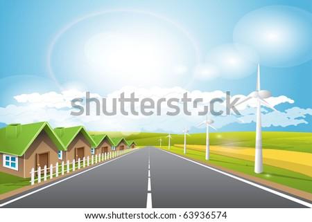 renewed energy - stock vector