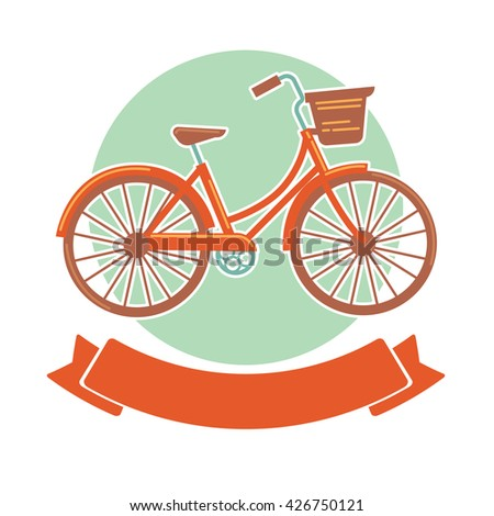 rent a bike, vector template for your banner and poster