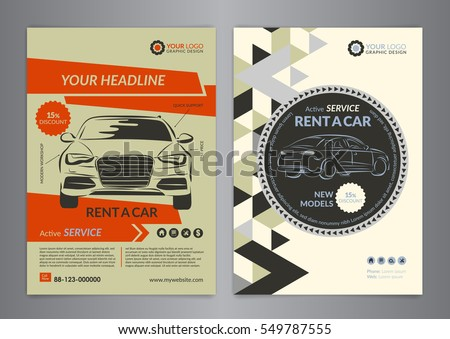 Set A4 Rent Car Business Flyer Vector 570208171 Shutterstock – For Rent Flyer Template
