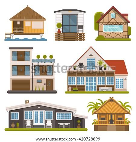 Bungalow Stock Vectors Images Vector Art Shutterstock