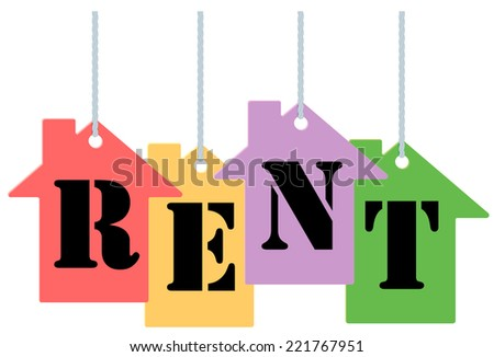 Rent tags - stock vector