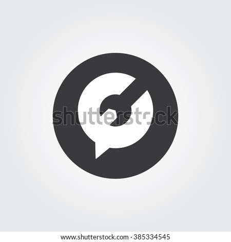 Repair Forum Logo concept. Bubble, chat, communication, forum, repair. Vector Repair Icon. Vector Repair Icon - stock vector