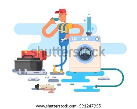 repair of washing machine