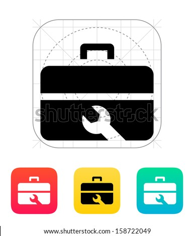 Repair Toolbox icon. Vector Illustration. - stock vector