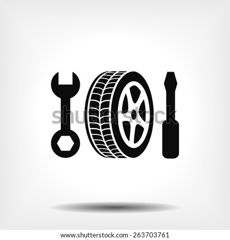 repair wheels icon. Vector  Eps 10  - stock vector