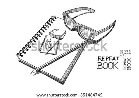 REPEAT BOOK - stock vector