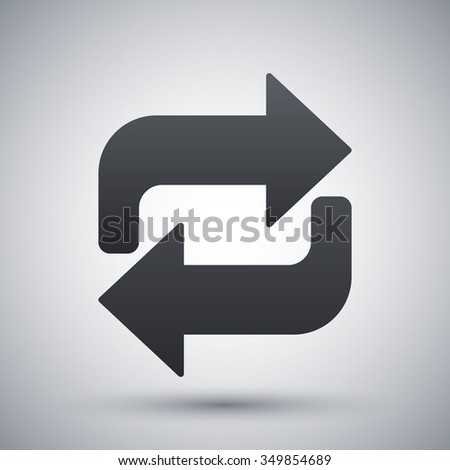 Repeat icon, vector - stock vector