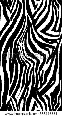 repeat pattern/ tribal/ zebra skin - stock vector