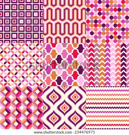 repeated abstract geometric pattern design